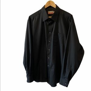 MENS MARKS & SPENCER Black Tailored Button Up